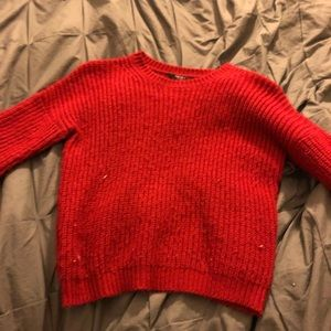 red sweater FOREVER 21